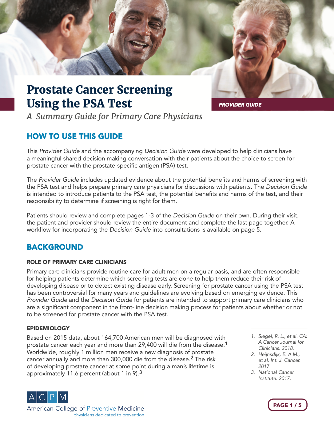 Provider instruction front page