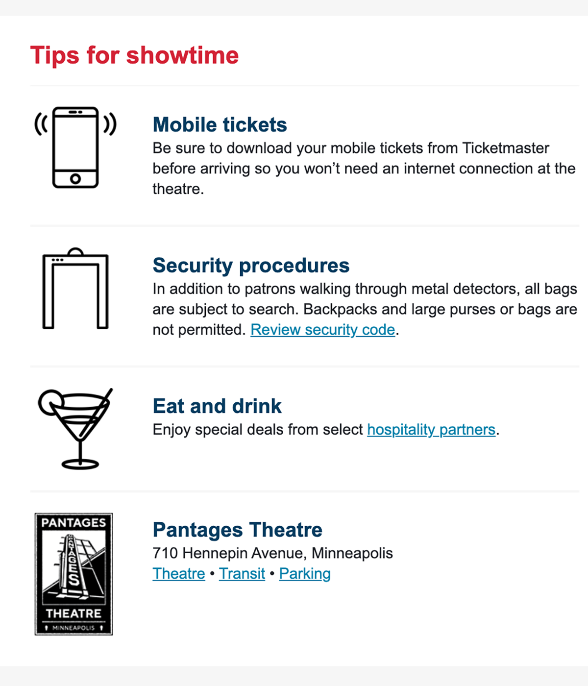 Tips for showtime